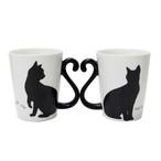 マグカップル黒猫/シンプル