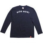 RIDE NOW! 紺 (長袖)