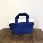 シンプルツートーンカラーのトートバッグ(ブルー)