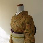 正絹紬 正倉院柄の小紋 袷の着物