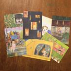 POST CARD set / Window