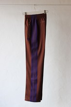 【Needles】narrow track pant poly smooth-brown