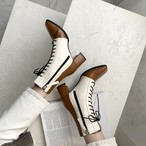 スクエアミドルウォーカーブーツ ウォーカーブーツ ブーツ 韓国ファッション