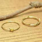 無垢真鍮 結び目/木の枝リング