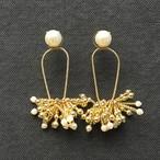 DRESS Beads Tassel ピアスのみ- gold-