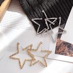 【小物】誇張ダイヤモンド嵌め星キラキラ輝くお流行りピアス