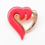 red & gold heart brooch[b-135]