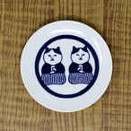 猫豆皿(ねこ茶商茶紋)
