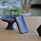 革のPASMO&Suicaホルダー【black】