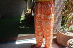 (CP004) タイパンツ 象柄 オレンジ