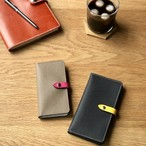 組み合わせ自由 ドイツ型押しカーフ ワープロラックスのフラップ付き手帳型iPhoneケース  iPhoneの全機種より選択可