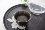 日本酒好きのための八角盃 四分一塗 新月