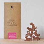 【COMMA】Shiba Inu Stack 地味にはまる!大人のつみき 柴犬スタック 色んなポーズの柴犬6ピース (ピンク/A73009)