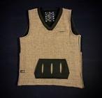 18AW  グレンチェック裏ボアツイードベスト /  Glen check tweed vest