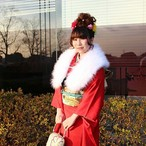 <祝>成人記念 BANZAI JAPAN 千葉県の伝道師「菜花 まりあ」振袖ランダムチェキ 限定20枚