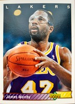 NBAカード 92-93UPPERDECK James Worthy #156 LAKERS