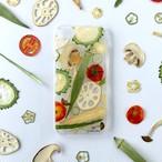 ベジタブルパズルの押し野菜スマホケース