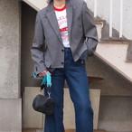 【sandglass】sack coat (gray)/ 【サンドグラス】サック コート(グレー)