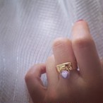 Vintage Heart Lock Ring ♯0110