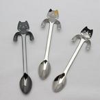 【猫柄】コーヒースプーン【三毛猫 ハチワレ 黒猫 猫グッズ】【780-521】