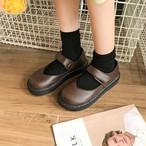 【shoes】レトロPU丸トゥパンプス15213169