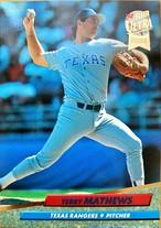 MLBカード 92FLEER Terry Mathews #135 RANGERS