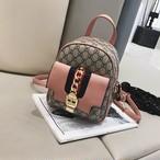【小物】リュックサックファッションチェック柄バッグ