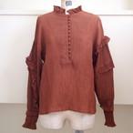 【RehersalL】yoryu frill collar blouse /【リハーズオール】楊柳 フリル カラーブラウス