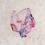 染めオーガンジーのアートピアス|春の夢