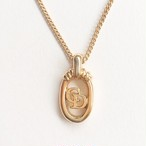 """Dior"" oval necklace[n-234]"