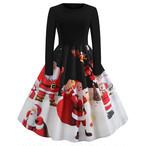 【dress】大振り裾クリスマスレトロワンピース25107856