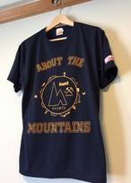 hs-04『ACTIVE』 hunt オリジナルカレッジロゴTシャツ ・ネイビー