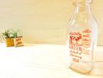 """ガラスミルクボトル """"Willow Farm Products"""""""