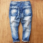 G55Sarouel Flap Denim Pants -REAL DAMAGE-