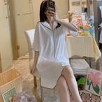【パジャマ】シンプルファッションカジュアル無地パジャマ31383786