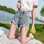 【bottoms】ファッション切り替え無地ショートパンツ20583793