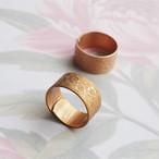 1970's 真鍮の洋彫り花模様のリング(1コ)