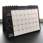 【カレンダー】SKM-365・アナログシンセカレンダー2019 卓上/黒×オレンジ