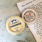 Vintage Milk cap badge  イエロー×ホワイトミニ