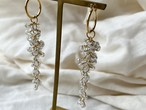 "chandelier pierce/earrings ""fall hoop"""