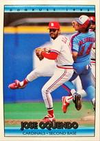 MLBカード 92DONRUSS Jose Oquendo #280 CARDINALS