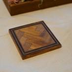 木製コースター<ヘリンボーン>