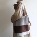 PHEENY【womens 】big block check tote bag
