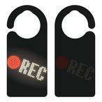 【新形状】REC(レコーディング中)[1074] 【全国送料無料】 ドアノブ ドアプレート メッセージプレート