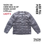 [ 送料無料!! ]【レディース】TAION-105 CREW NECK W-ZIP DOWN JACKET < グレー >