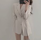 ribbon belt jacket 4color