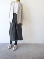 cotton linen double tailored jacket / Munich