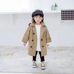 【即納 / 予約】 シンプル トレンチコート 男女兼用 90〜130cm