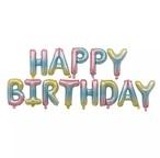 誕生日 プレゼント サプライズ お祝い 装飾 飾り 飾り付け ハッピーバースデーバルーン【ピンクパープル】【ミルキーレインボー】