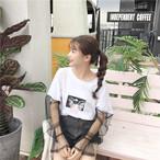lace sleeve girly t shirts 2820